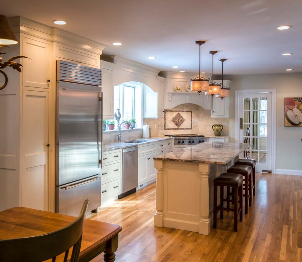 Lancaster Kitchen. Custom: Maple Cabinets, Custom Paint Color, Inset Doors,  Custom Moldings, Furniture Details On Island.